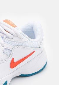 Nike Performance - COURT Jr.  LITE 2 UNISEX - Multicourt tennis shoes - white/team orange/green abyss/praline - 5