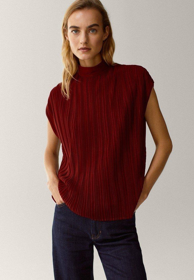 Massimo Dutti - Print T-shirt - red