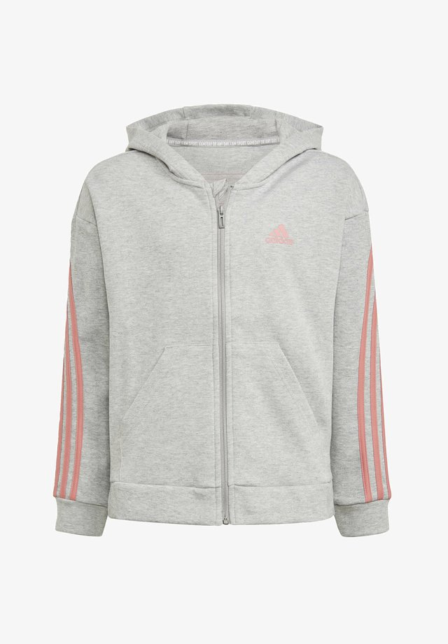 STRIPES FULL-ZIP HOODIE - Zip-up sweatshirt - grey