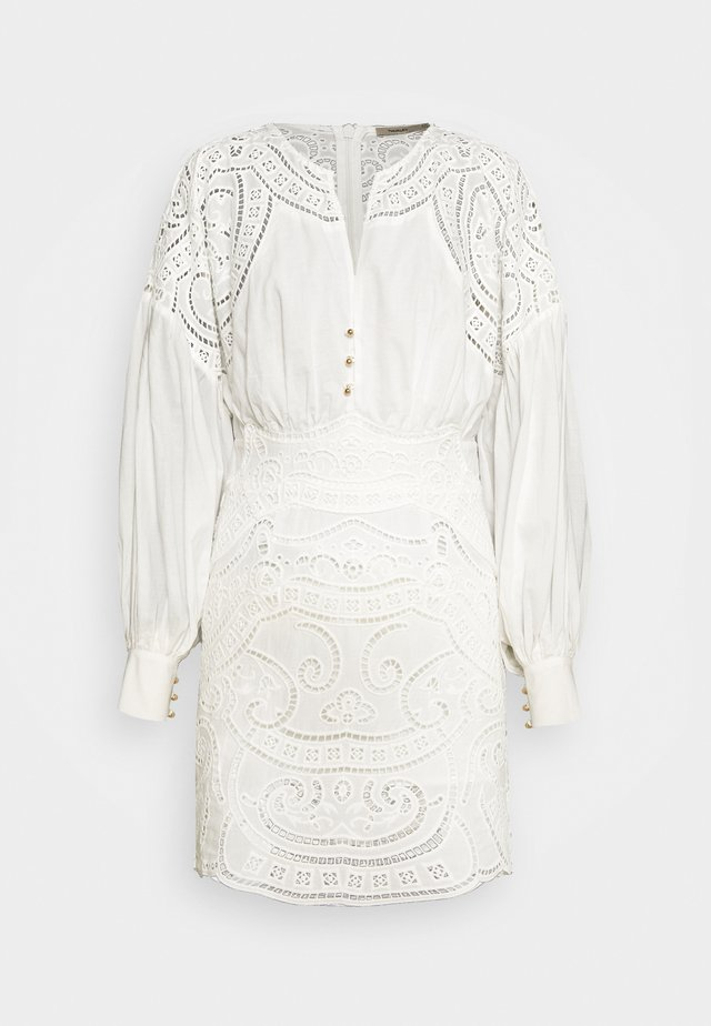 RIPPLE MINI DRESS - Day dress - off white