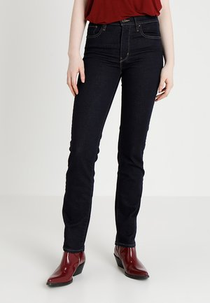 Jeansy Slim Fit - dark-blue denim, rinsed denim