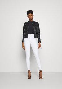 ONLY - ONLJENNY JACKET - Faux leather jacket - black - 1