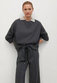 Mango - MIA - Trousers - dunkelgrau meliert - 4