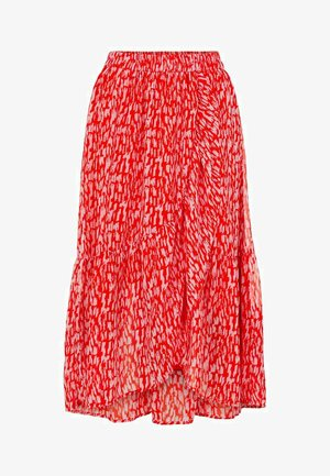 A-line skirt - red clay