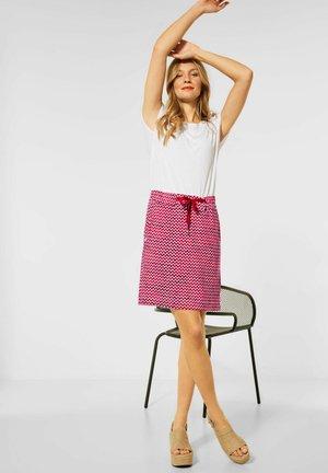MIT PRINT - A-line skirt - rot
