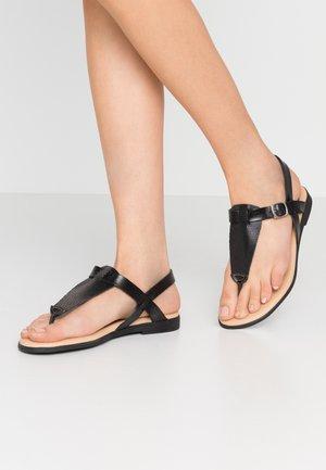 FLORA - T-bar sandals - black