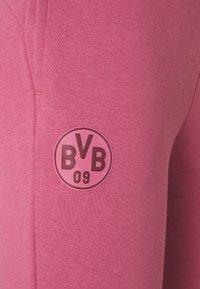Puma - BVB BORUSSIA DORTMUND CULTURE TRACK PANTS  - Club wear - rose wine/burgundy - 6