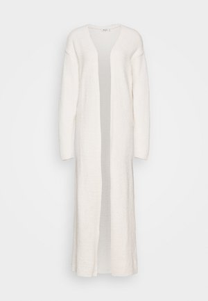 NA-KD X ZALANDO EXCLUSIVE - FLUFFY LONG CARDIGAN - Chaqueta de punto - white