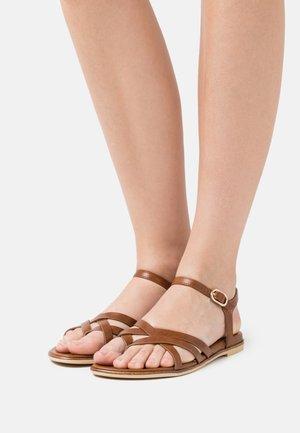 SIRI  - T-bar sandals - brown