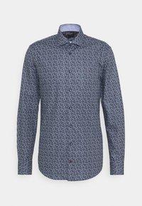 FLORAL PRINT SLIM FIT - Shirt - navy/blue