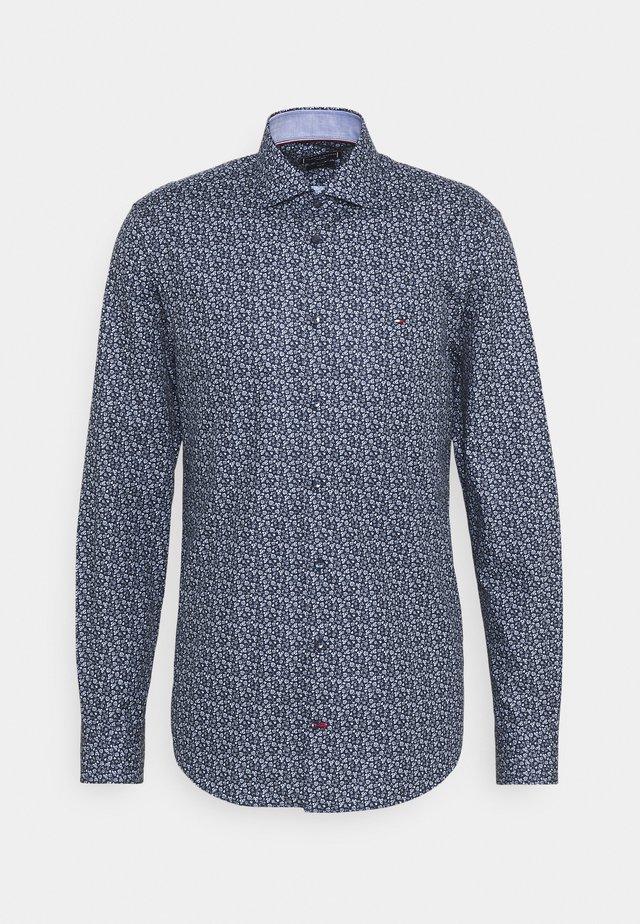 FLORAL PRINT SLIM FIT - Overhemd - navy/blue