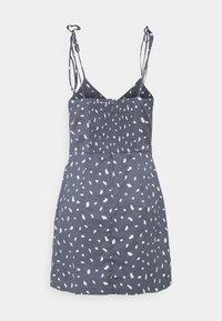Abercrombie & Fitch - TIE STRAP SHORT DRESS - Sukienka letnia - blue - 7