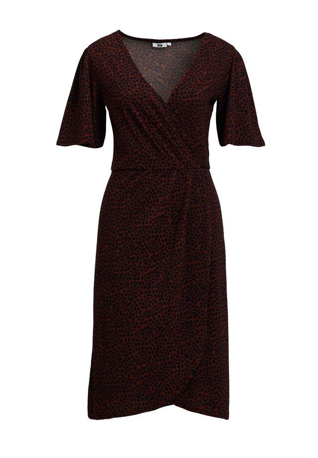 MET DIERENPRINT - Korte jurk - burgundy red