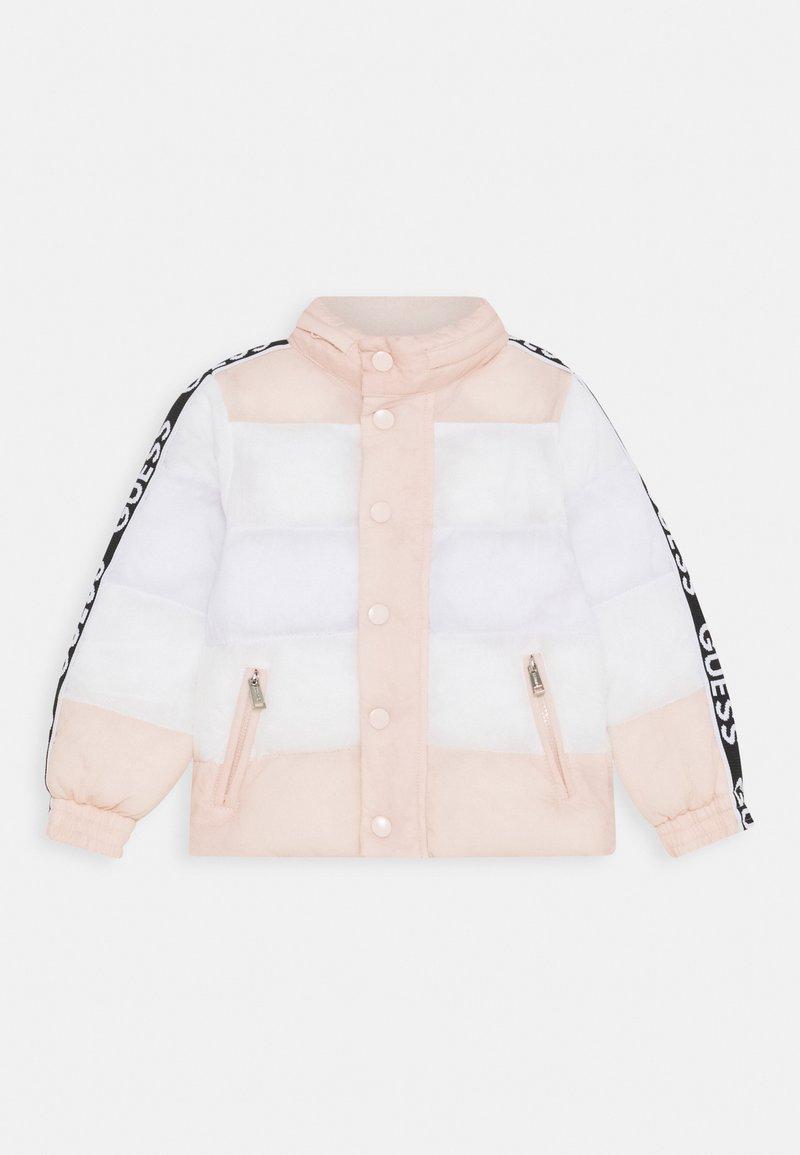 Guess - PADDED JACKET BABY UNISEX - Winter jacket - pink/white