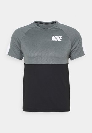 DRY - T-shirt imprimé - black/smoke grey/white