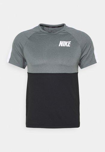 DRY - Print T-shirt - black/smoke grey/white