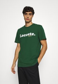 Lacoste - TH1868 - T-shirt imprimé - dark green - 0