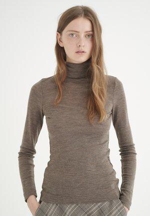 Maglietta a manica lunga - brown melange
