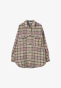 PULL&BEAR - MIT HAHNENTRITTMUSTER - Button-down blouse - yellow - 3