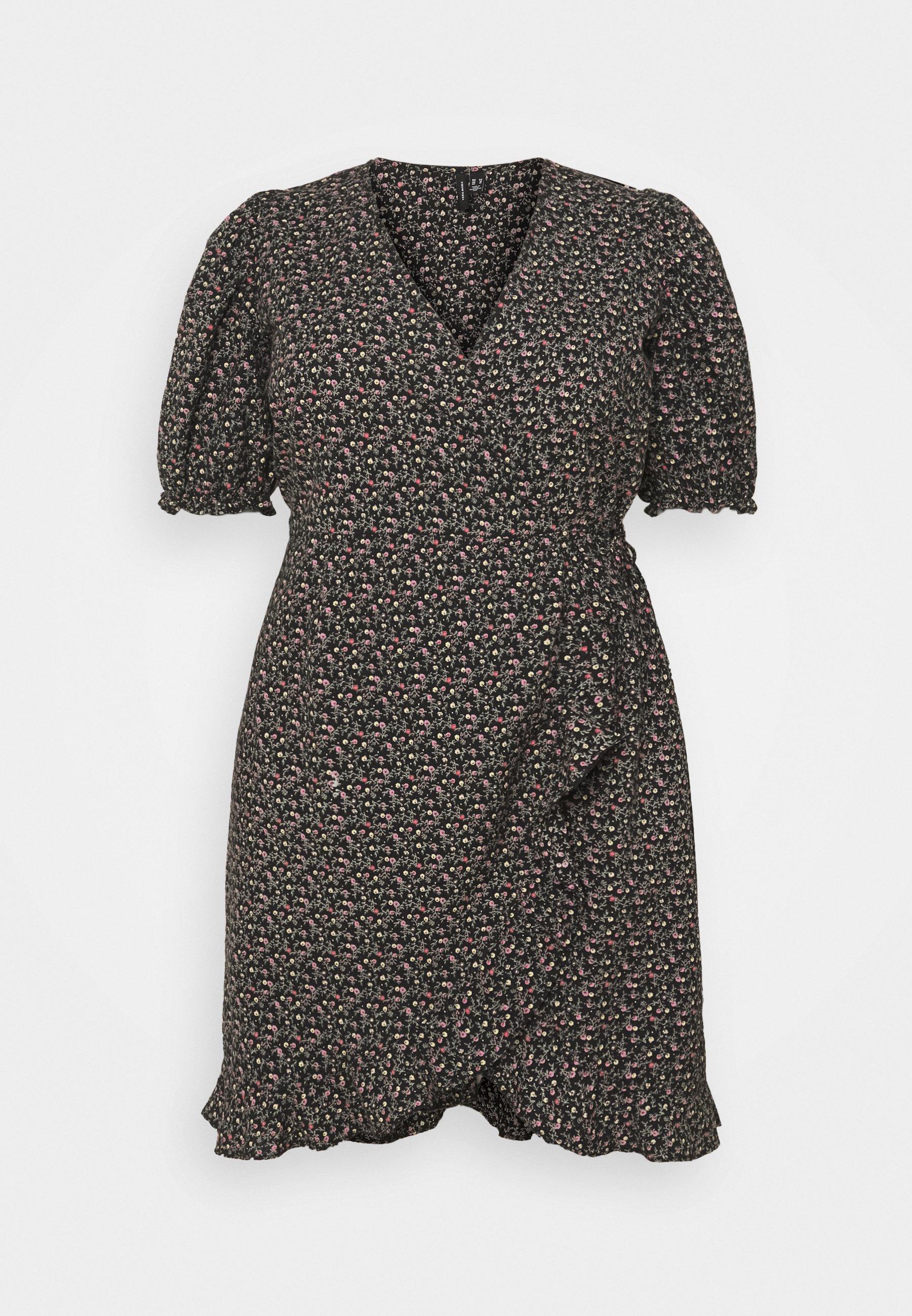 Women VMBELINA 2/4 WRAP DRESS - Day dress