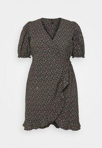 Vero Moda Curve - VMBELINA 2/4 WRAP DRESS - Day dress - black/belina - 0