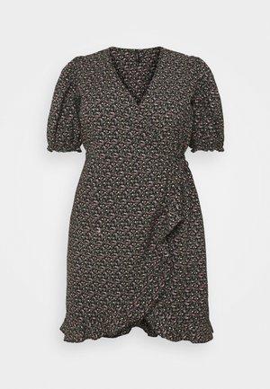 VMBELINA 2/4 WRAP DRESS - Day dress - black/belina