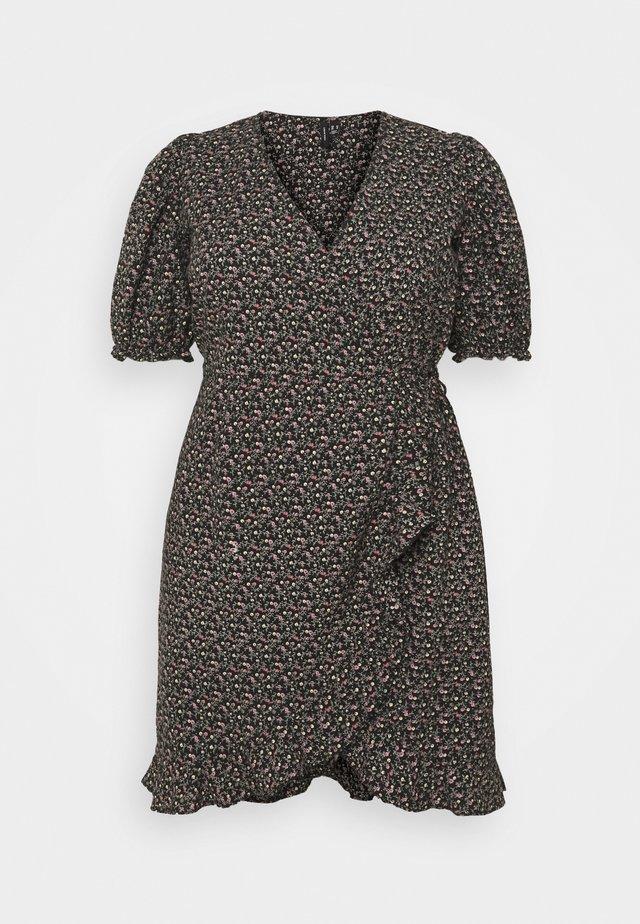 VMBELINA 2/4 WRAP DRESS - Korte jurk - black/belina