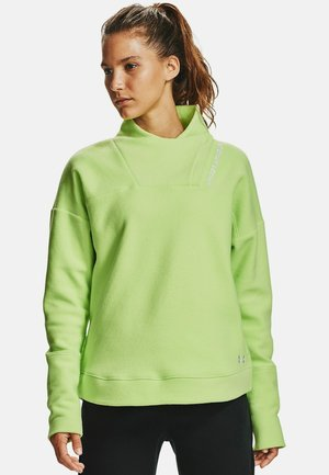 RECOVER WRAP NECK - Fleece jumper - lime ice