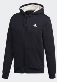 adidas Performance - WINTER 3-STRIPES FULL-ZIP HOODIE - Zip-up hoodie - black - 9