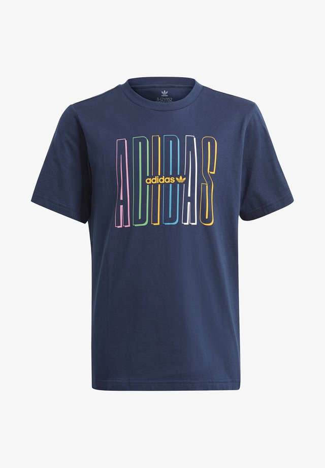 ADICOLOR CLASSICS 3-STRIPES LONG SLEEVE TEE - Print T-shirt - collegiate navy