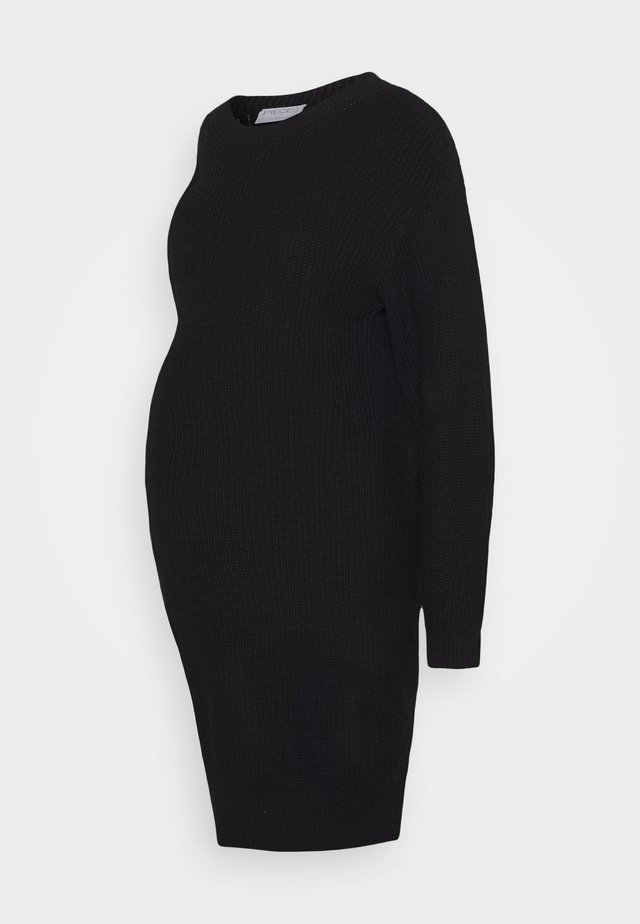PCMSIMMY  - Pletené šaty - black