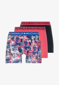 MUCHACHOMALO - HOROS 3 PACK - Shorty - red/black - 3