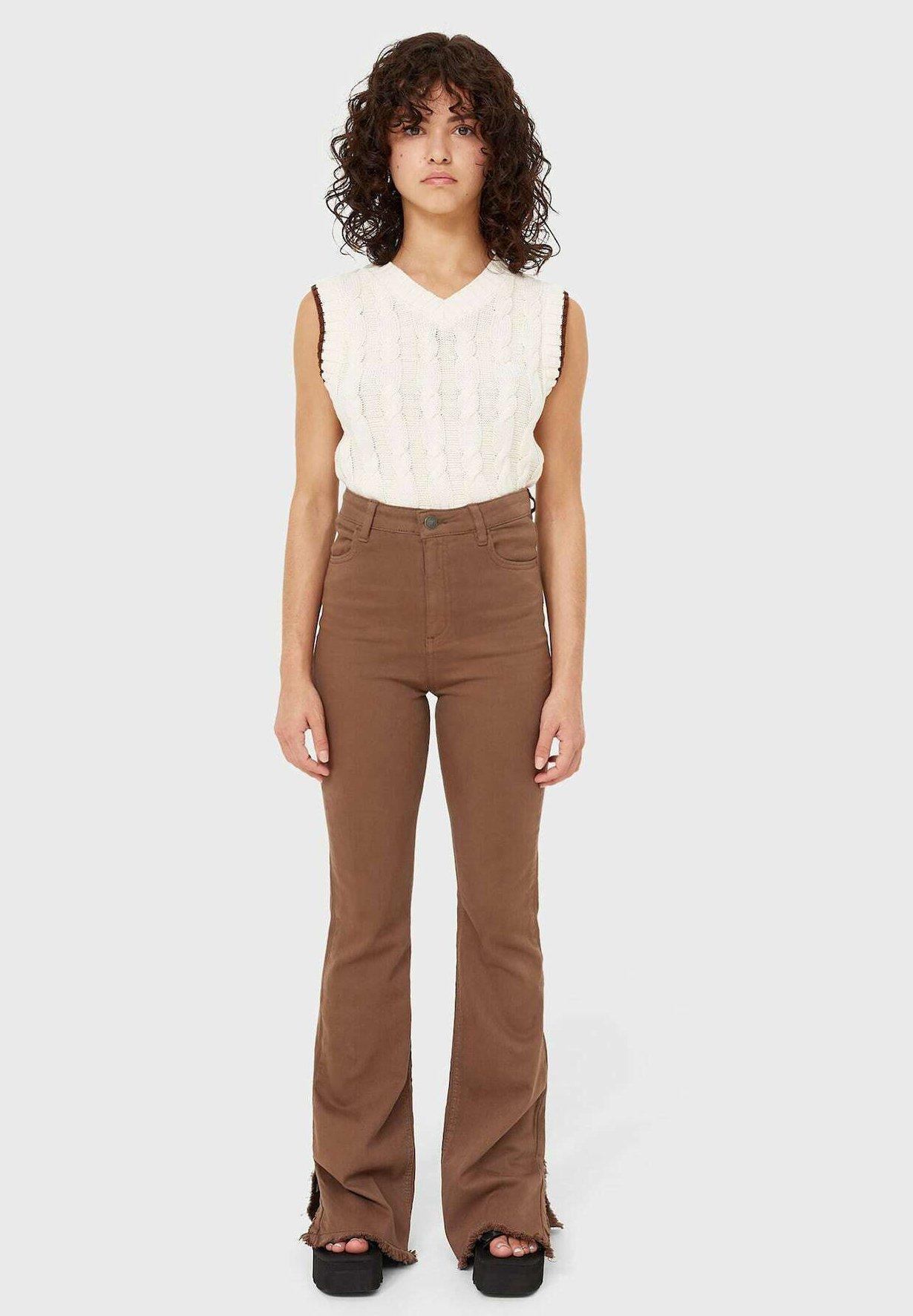 Donna MIT SEITLICHEM SCHLITZ - Jeans bootcut
