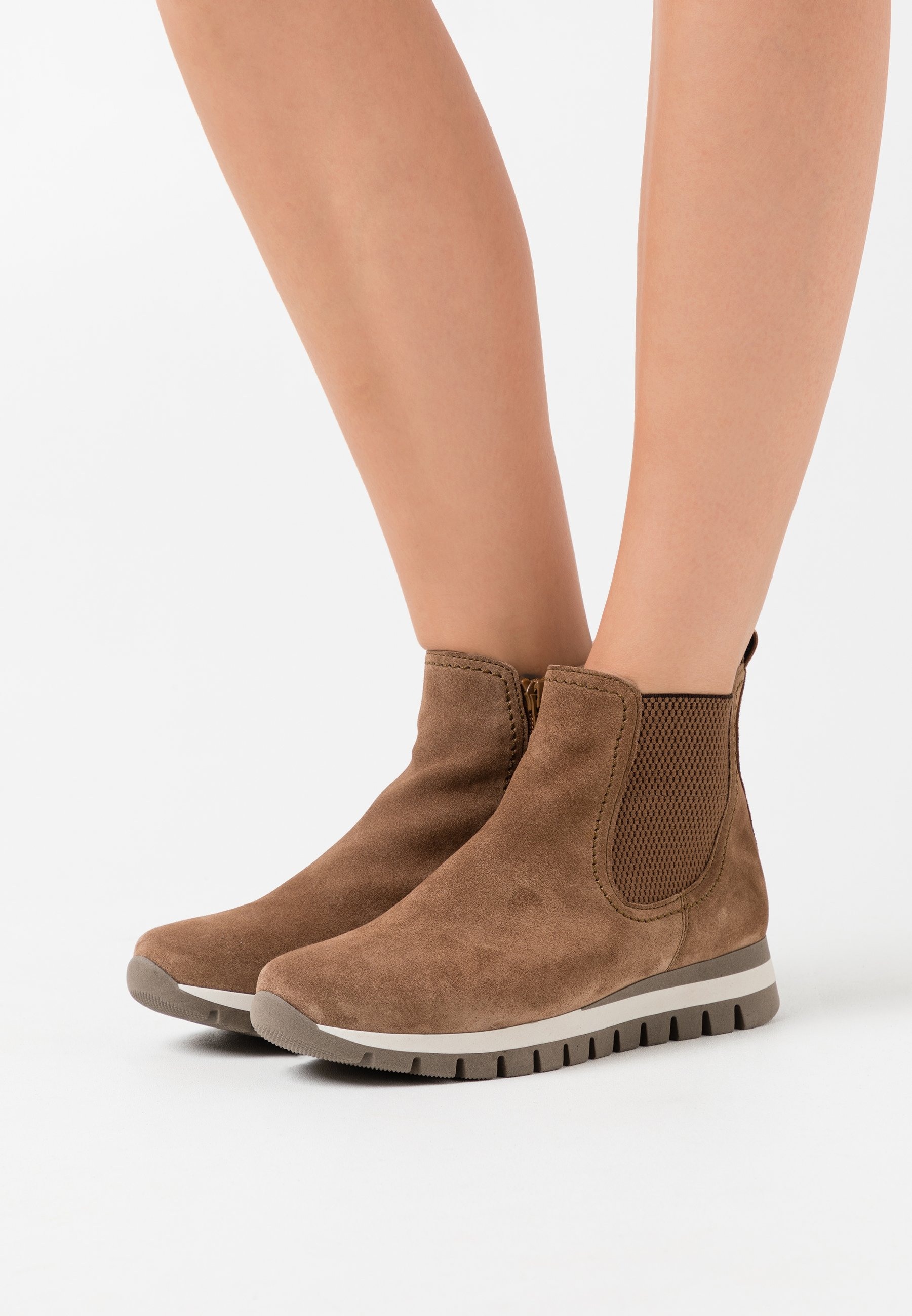 Gabor Comfort Damen Chelsea Boots Stiefelette Veloursleder Reißverschluss Schuhe