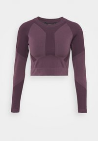 THE MOTION CROP - Long sleeved top - chinese violet