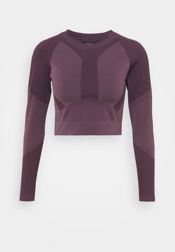 THE MOTION CROP - T-shirt à manches longues - chinese violet