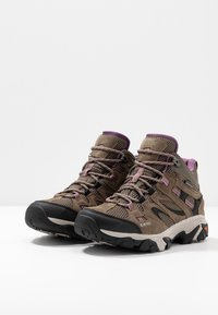 Hi-Tec - RAVUS VENT MID WP WOMENS - Trekingové boty - smokey brown/taupe/very grape - 2