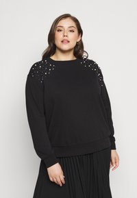 ONLY Carmakoma - CARETTA  - Sweatshirt - black - 0