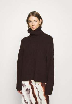 Jumper - chocolate plum/melange