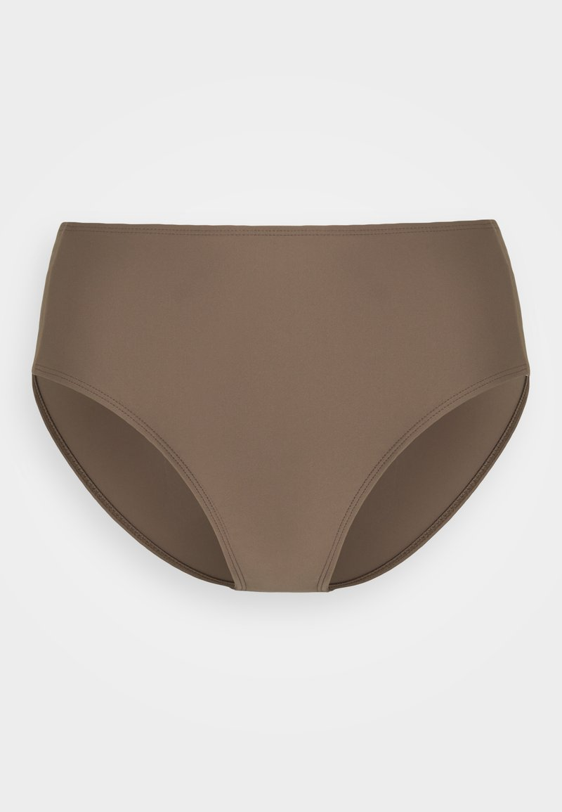 Filippa K - SHINY HIGH BRIEF - Spodní díl bikin - nougat brown