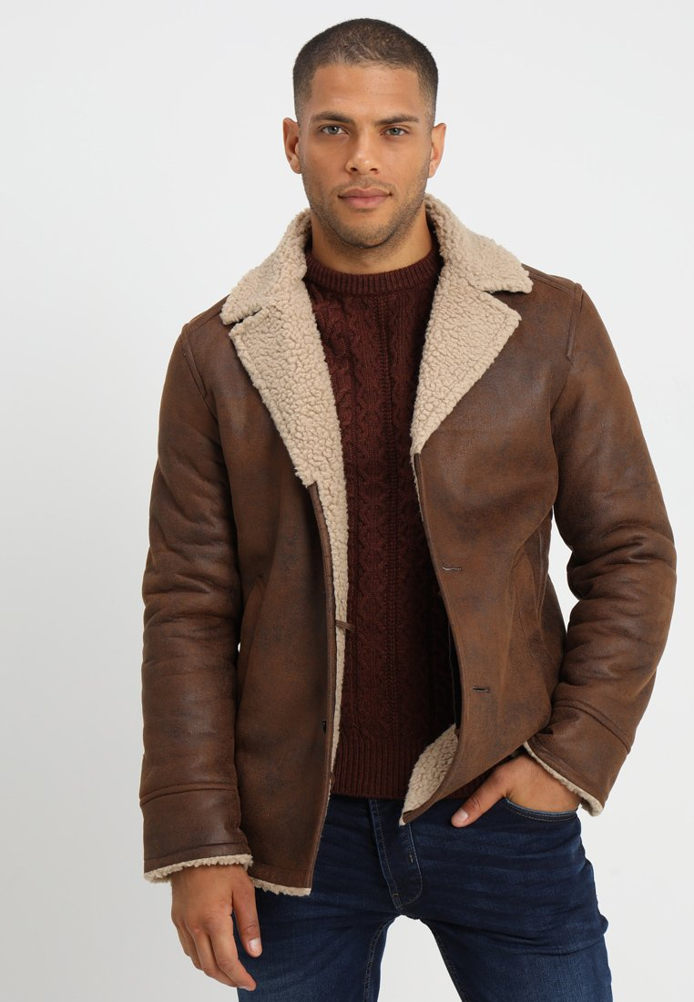 Pier One - Faux leather jacket - brown