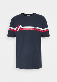 Tommy Jeans - STRIPE MOUNTAIN TEE UNISEX - Print T-shirt - twilight navy - 3