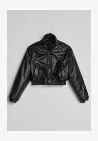 Bershka - Faux leather jacket - black - 4