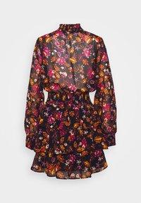 Gina Tricot - ALEXA TURTLNECK DRESS EXCLUSIVE - Day dress - black/rose - 1
