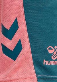 Hummel - ACTION - Sports shorts - blue coral/tea rose - 3