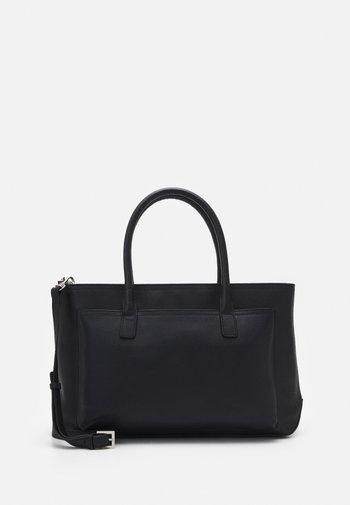 LEATHER - Laptop bag - black
