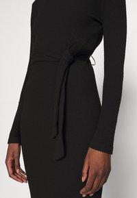 Dorothy Perkins - BRUSHED BODYCON TIE WAIST - Shift dress - black - 5