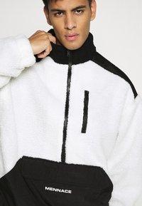Mennace - HALF ZIP PANELLED - Summer jacket - white - 5