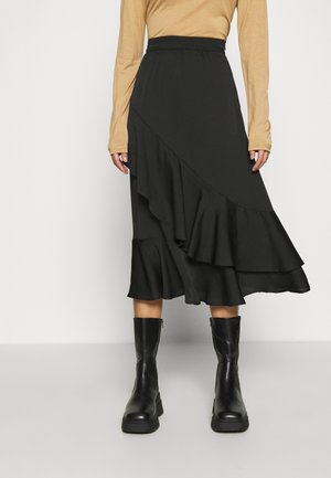 AUBREE - A-line skirt - black