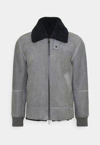 Emporio Armani - Kožená bunda - grey - 0